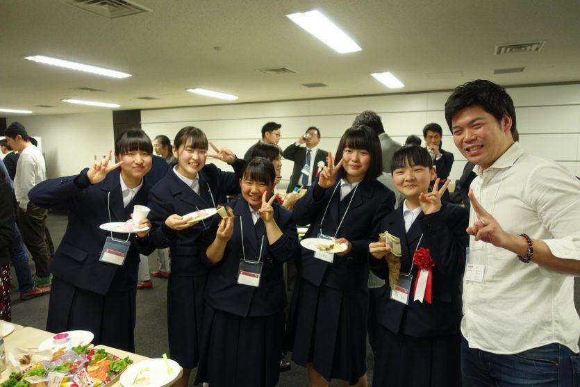 福岡県立小倉高等学校の仲間とデロイトトーマツベンチャーサポート小野氏